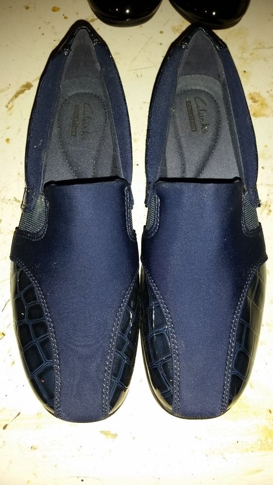 NAVY BLUE Size 7.5 M Slip On Loafers