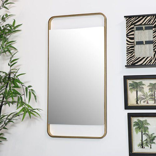 Mallory Accent Mirror Canora Grey In 2020 Art Deco Living Room Gold Walls Frames On Wall