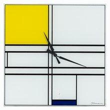 Nach Piet Mondrian, Uhr, Komposition in Blau und Gelb, 1997