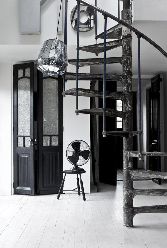 door & stairs