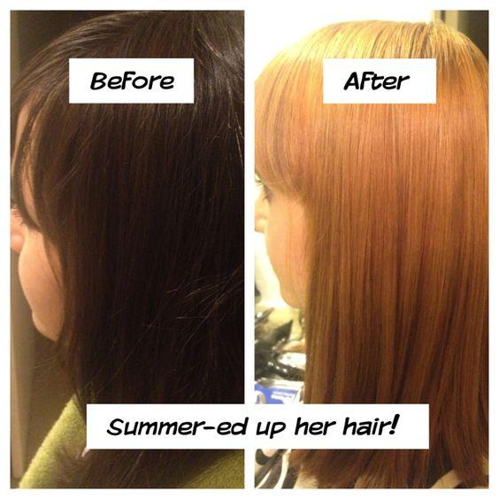 Lightened this pretty girls hair! :)