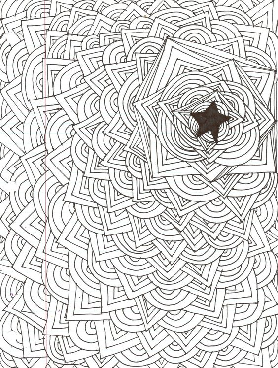 Cool Easy Designs to Draw | abstract star design | kiki ...