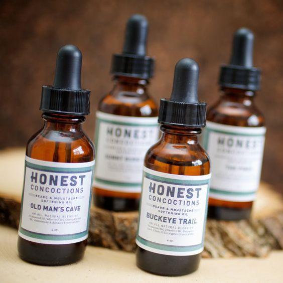 Man Cave Beard Oil : Beard oil sample set choose oz amber glass bottles