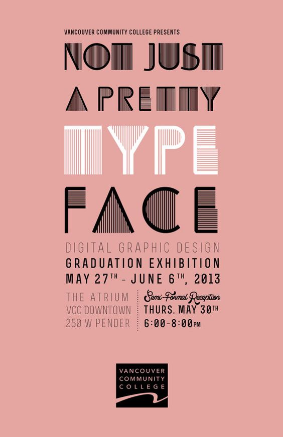 VCC Graduation Exhibition Identity by Rebecca Maxwell, via Behance
