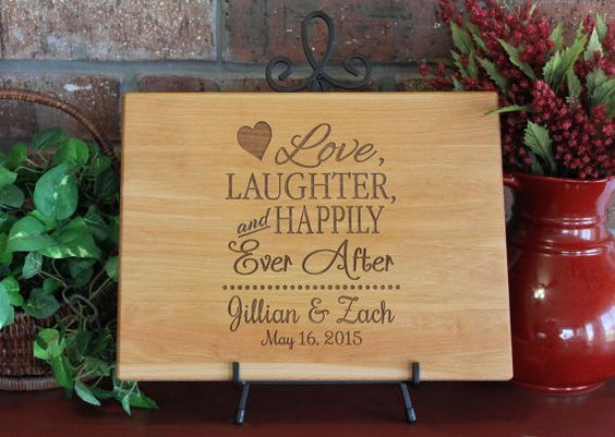 Personalized Cutting Board Love Laughter and by EngrainedMemories