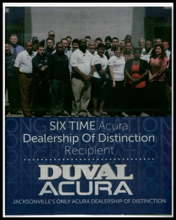 Duval Acura is a six time Dealership of Distinction recipient. We are so excited! #Acura