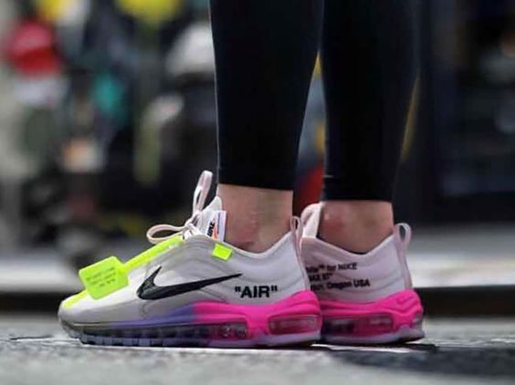 This Air Max 97 Off White Elemental Rose Serena Queen Sneakers Are A Must Own Part Of Nike And Virgil Nike Air Max White Nike Air Max 90 Black Nike Air Max