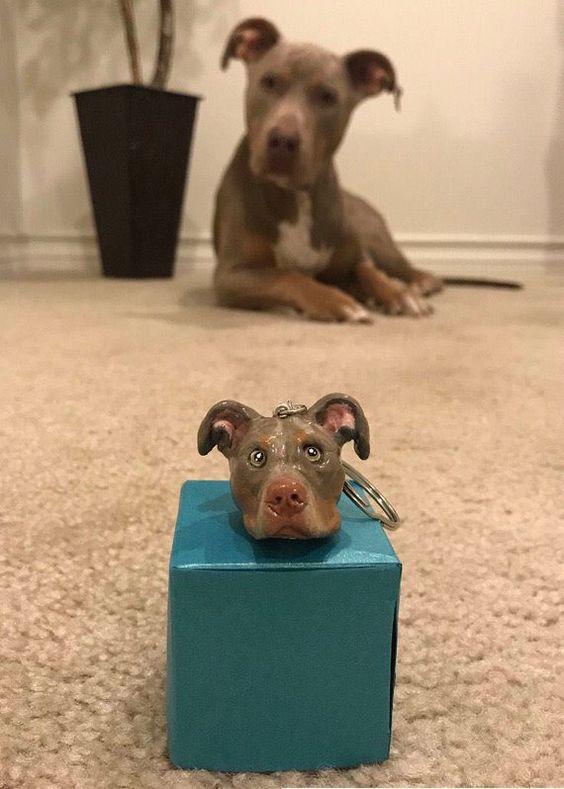 Custom Pitbull Keychain Pitbull Memorial American Bully Etsy Pitbulls Pitbull Terrier Dog Gifts