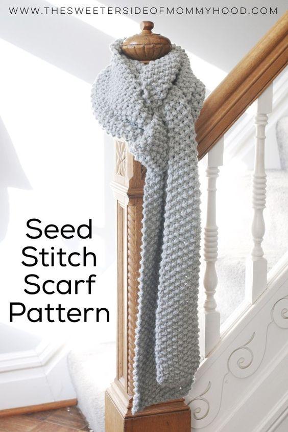 Free seed stitch scarf pattern. So soft and wonderful.