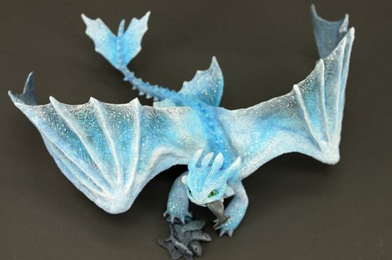 RESERVED Albino Toothless Night Fury Dragon Sculpture httyd figurine How to train your dragon fantasy animal creature art sculpture