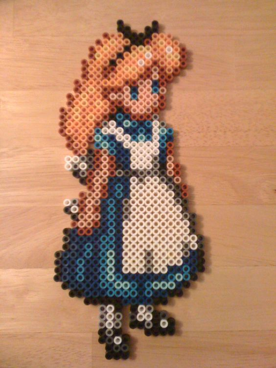 Alice perler beads by Two Wallet Alter