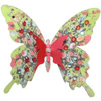Butterfly Clip Upper 4cm+lower 9.5cm  Collection: oilpainting  www.creativecreation.pro