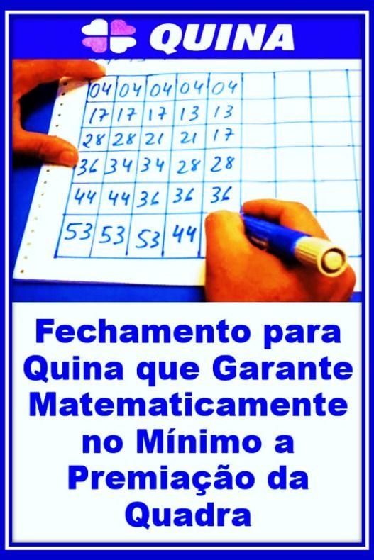 Fechamento Da Quina Feche 4 Acertos Ganhar Na Loteria Jogo Do Bixo Loteria