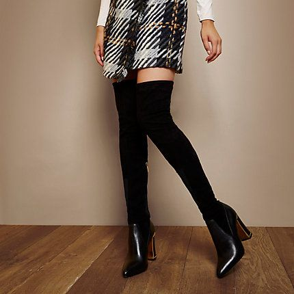 RI Studio black leather over-the-knee boots £90.00