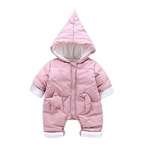 M/&A Newborn Baby Boys Girls Snowsuit Hooded Fleece Coat Romper Cute Winter Jumpsuit