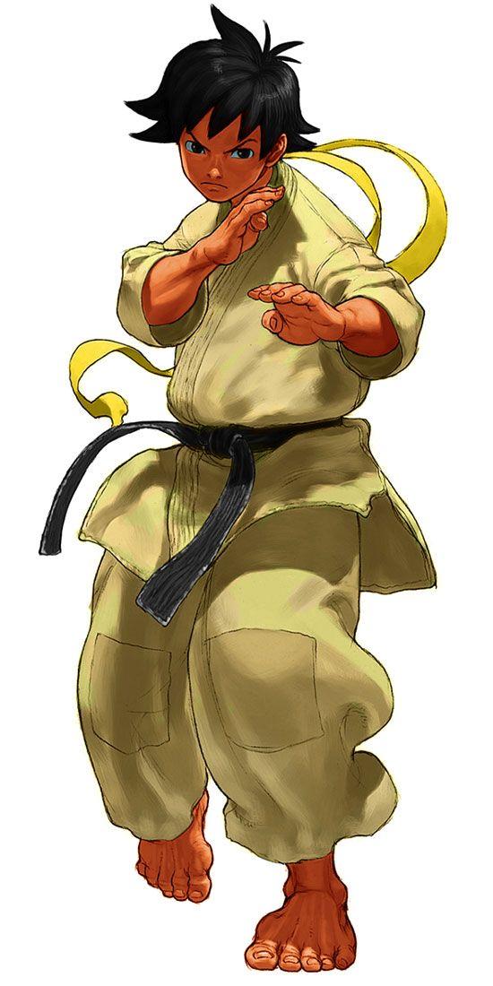 勇ましい格闘家少年
