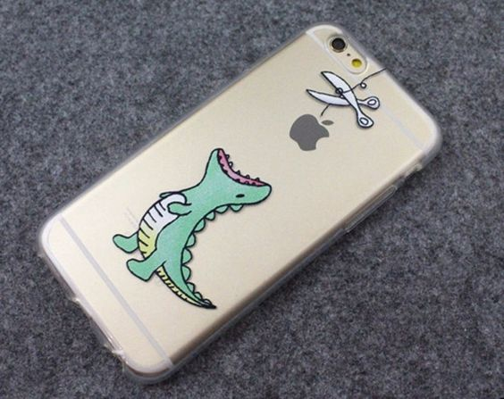 Dinosaur waiting to eat Apple Cute phone soft case for iPhone 5/5S/6/6S plus #UnbrandedGeneric