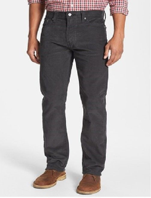 grey corduroy pants - Pi Pants