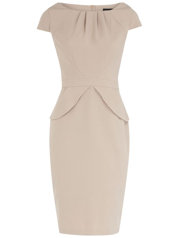 taupe poly dress