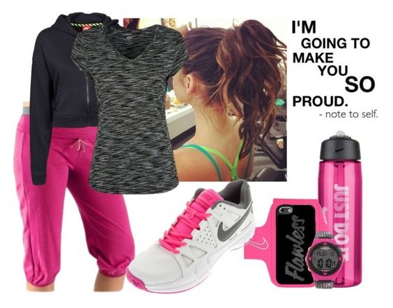 """""""For My Sporty Girly Peeps"""" by fashionforchrist ❤ liked on Polyvore featuring Rykä, NIKE and George"""
