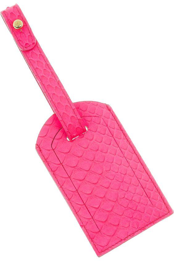 Pucci python luggage tag