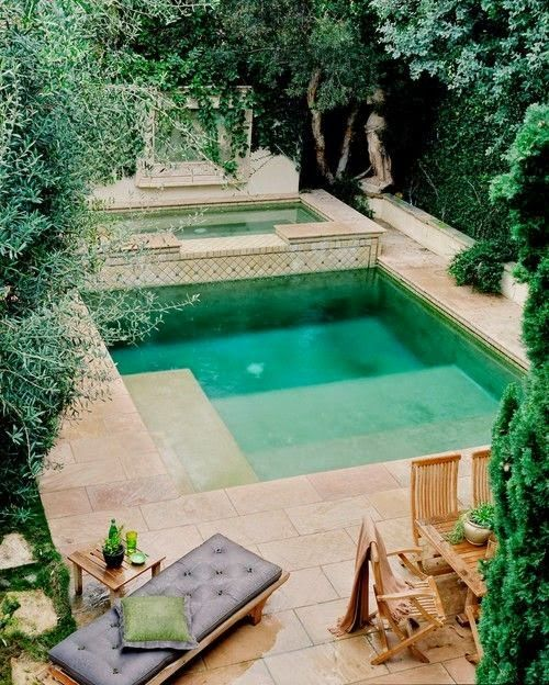 Pools backyard pools and backyards on pinterest for Pool area ideas