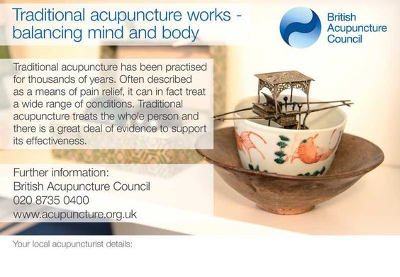 The website of the British Acupuncture Council