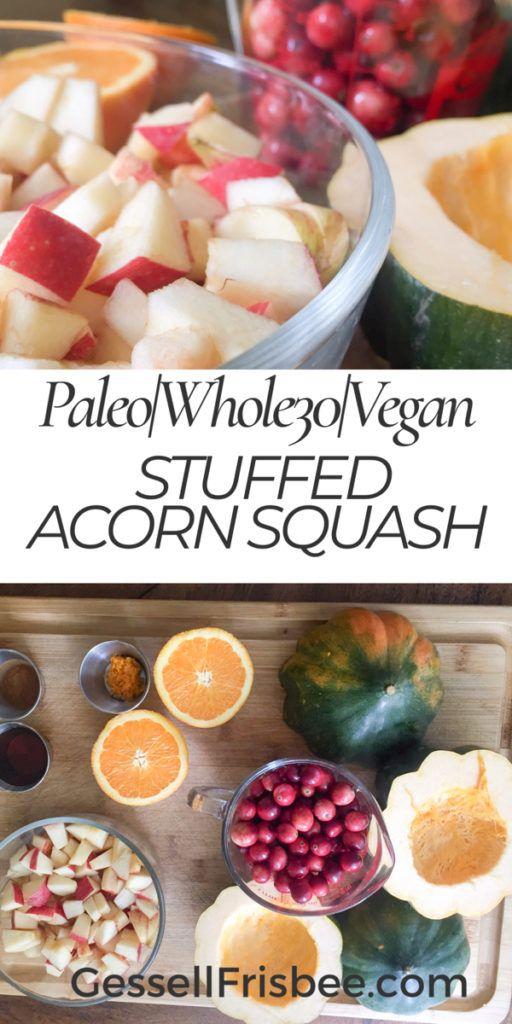 Cranberry Apple Stuffed Acorn Squash Recipe Food Recipes