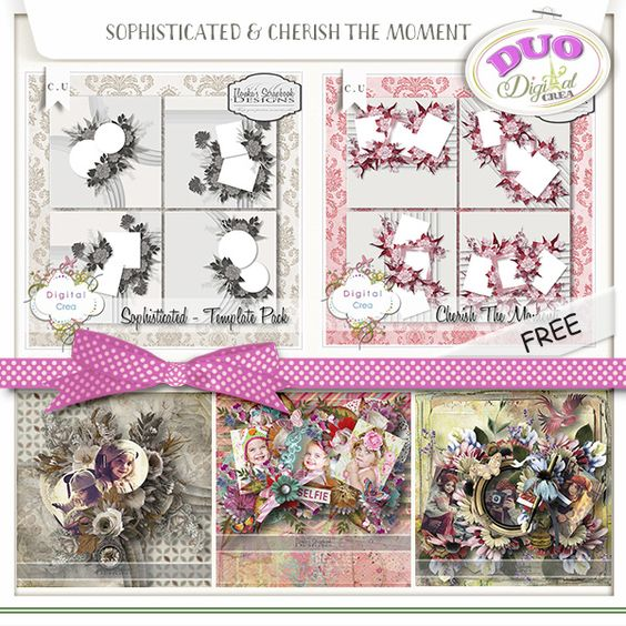 Sohisticated & Cherish The Moment Template DUO pack by Ilonka