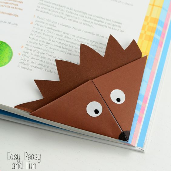 hedgehog corner bookmark                                                       …