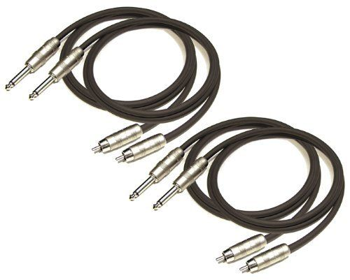 "4 PACK 6' FT 1/4"" TS TO MALE RCA PRO PATCH CABLE CORD AP207 by KIRLIN CABLE INC.. $22.75. This cable is designed connect gear with unbalanced phone jacks to gear with phono jacks. It is ideal for use in touring and other live-sound applications. They are professional grade audio cables they are constructed using 20 gauge OFC conductors which are then twisted with cotton yard fillers to provide strength and flexibility. A conductive PVC shield with 100% coverage and an OFC brai..."