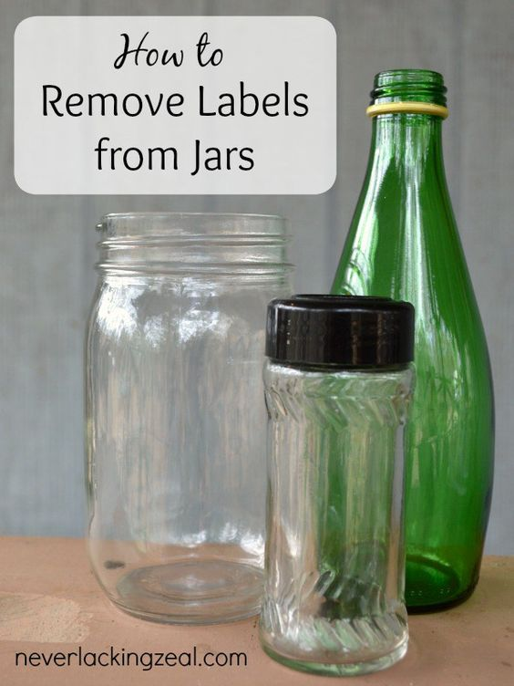 how to remove labels from jars crafts jars and the bin. Black Bedroom Furniture Sets. Home Design Ideas