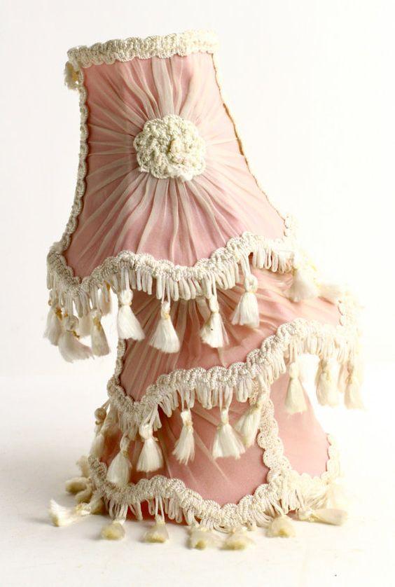 Vintage pleated chiffon lampshade cream lamp shade for table lamp vintage silk lampshades embellishing lampshadesfancy aloadofball Images