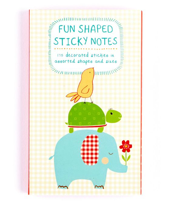 Playful Animals Shaped Sticky Notes