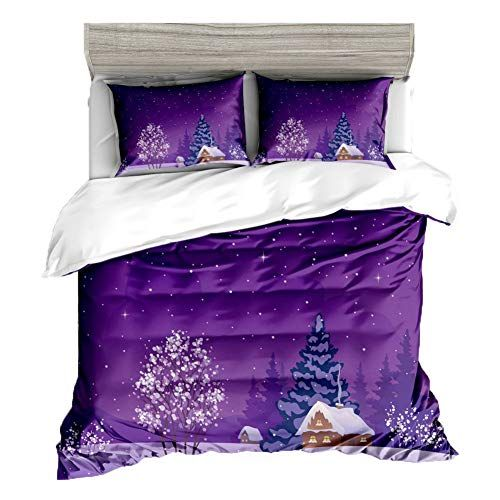 Jxboos Merry Christmas Cotton Duvet Cover Thick Bed Linen Warm Bedding Sets Quilt Cover Set Bed Sheet Pil Bedding Sets Christmas Bedding Set Christmas Bedding