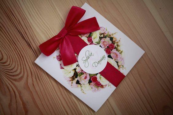 Zaproszenia ślubne, wianek, róże 🌺