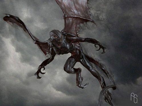 Arte conceptual de Furia de Titanes: Harpía