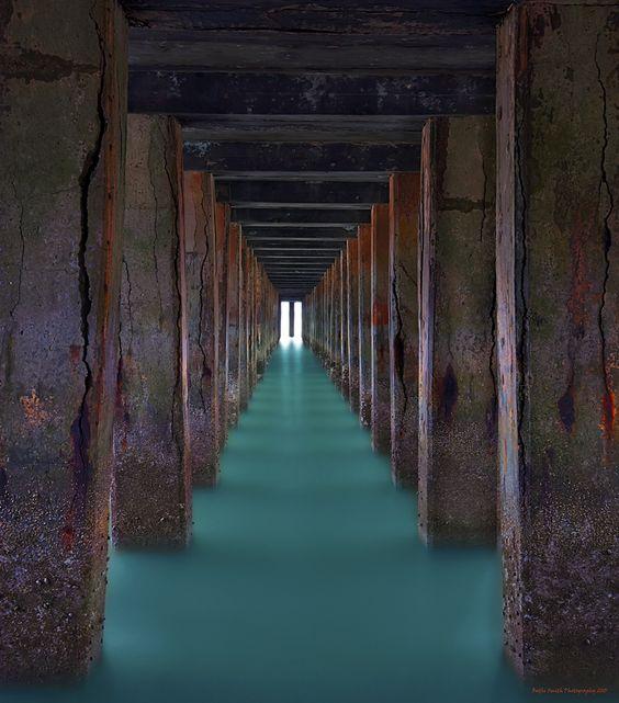 """""""Entrance"""" #Dolica #LeeFilters #Nikon #D800 #Nikkor #Expressionist #Impressionist #Surreal #SanFrancisco #Sausalito #BayArea #FortBaker #Pier"""