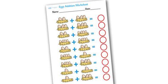 Simple addition sheet ks1