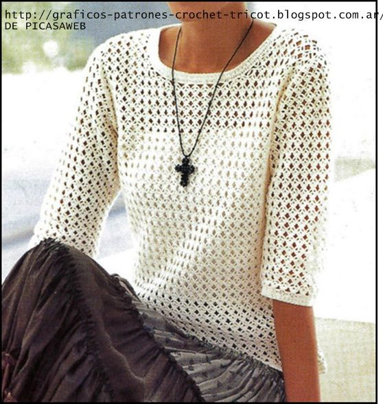 TEJIDOS A CROCHET - GANCHILLO - PATRONES: CROCHET DAMAS | croch ...