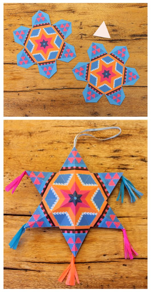 Mexican diy paper stars for decorations diy and crafts for Mexican christmas ornaments crafts