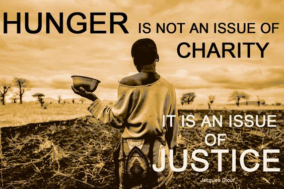 The fight for food justice has to be an issue for all of us! http://www.endinghunger.org/en/educate/food_justice.html: