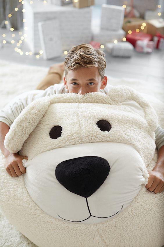 Bear Faux-Fur Critter Beanbag