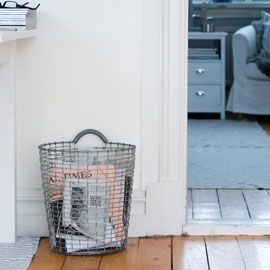 magazine storage. Korbo Galvanised Storage Bin | Kitchen Bins | Kitchen Utility | Kitchen | Heal's