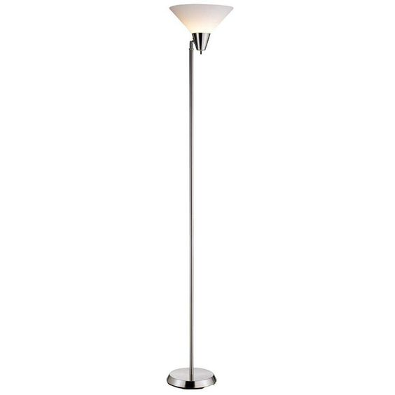 $30 - Adesso Swivel 71.5 in. Satin Nickel Floor Lamp-3677-22 - The Home Depot