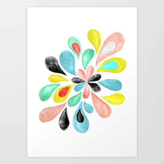 Buy Watercolor Splash  Art Print by Perrin Le Feuvre. Worldwide shipping available at Society6.com. Just one of millions of high quality products available.