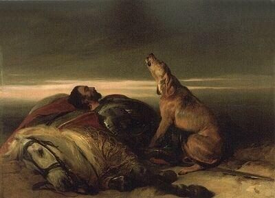 """Landseer's """"Faithful Hound""""  those Victorians weren't too sentimental, were they?"""