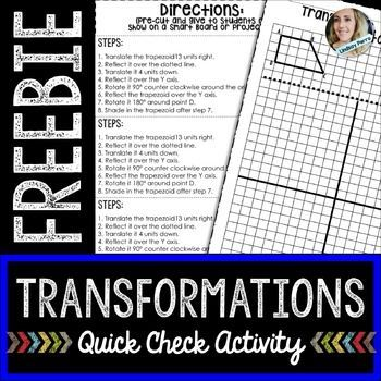 math worksheet : transformations this free quick check activity worksheet requires  : Multiple Transformations Worksheet