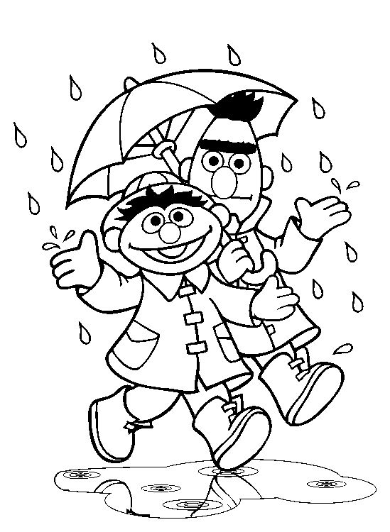 bert and ernie coloring pages - photo#9