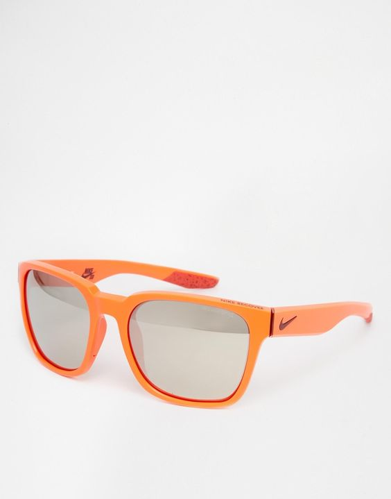 Sunglasses by Nike Lightweight, Wayfarer-style frames Moulded nose pads for added comfort Gradient tinted lenses Branded arms with curved temple tips for a secure fit Total UV protection Lens measures: 56mm